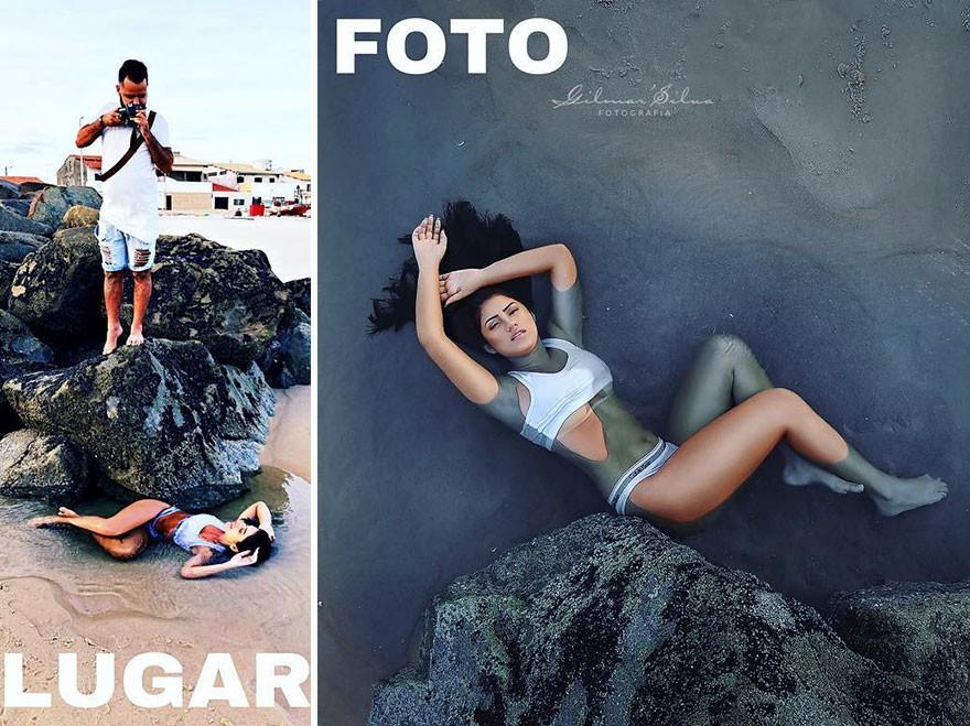 Thánh chụp ảnh Photoshop phong cách siêu tiết kiệm: Bãi lá khô cũng thành thắng cảnh, khu nước cạn cũng hóa hồ tiên - Ảnh 3.
