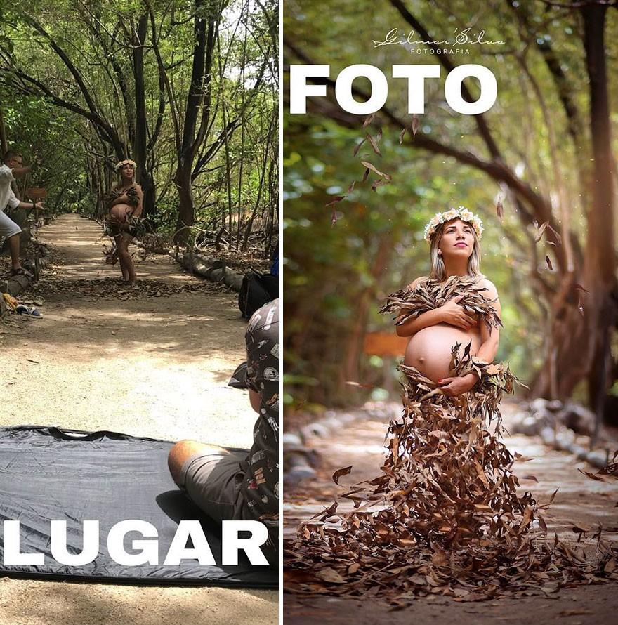 Thánh chụp ảnh Photoshop phong cách siêu tiết kiệm: Bãi lá khô cũng thành thắng cảnh, khu nước cạn cũng hóa hồ tiên - Ảnh 24.