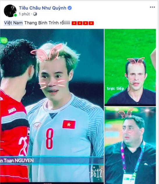 Sao Vbiz vỡ oà sung sướng khi Văn Toàn ghi bàn, đưa Việt Nam vào bán kết ASIAD 2018 - Ảnh 8.