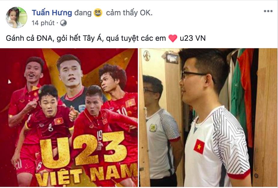 Văn Toàn ghi bàn Việt Nam vs Syria, Tuấn Hưng, Chi Pu vỡ òa sung sướng - Ảnh 5.