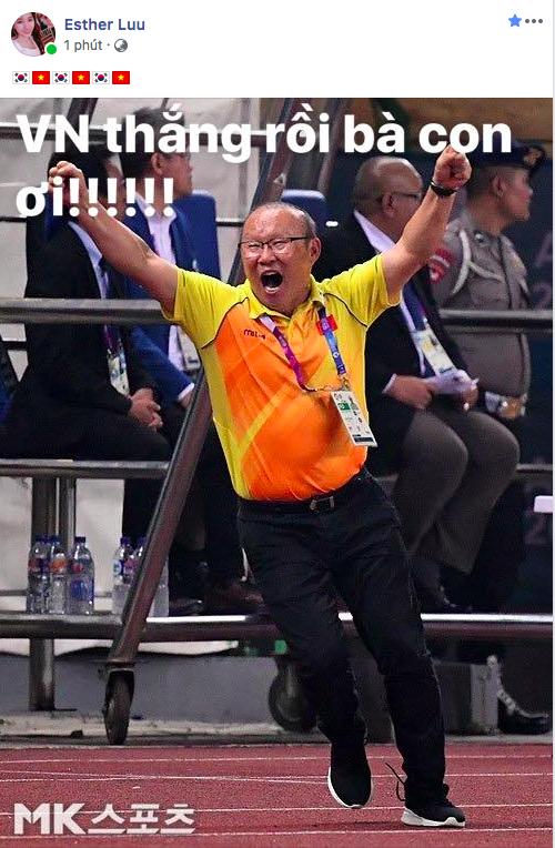 Sao Vbiz vỡ oà sung sướng khi Văn Toàn ghi bàn, đưa Việt Nam vào bán kết ASIAD 2018 - Ảnh 9.