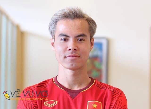 Chùm ảnh chế: Các tuyển thủ Olympic Việt Nam đồng loạt nhuộm tóc bạch kim giống Văn Toàn để lấy may trước trận bán kết - Ảnh 10.