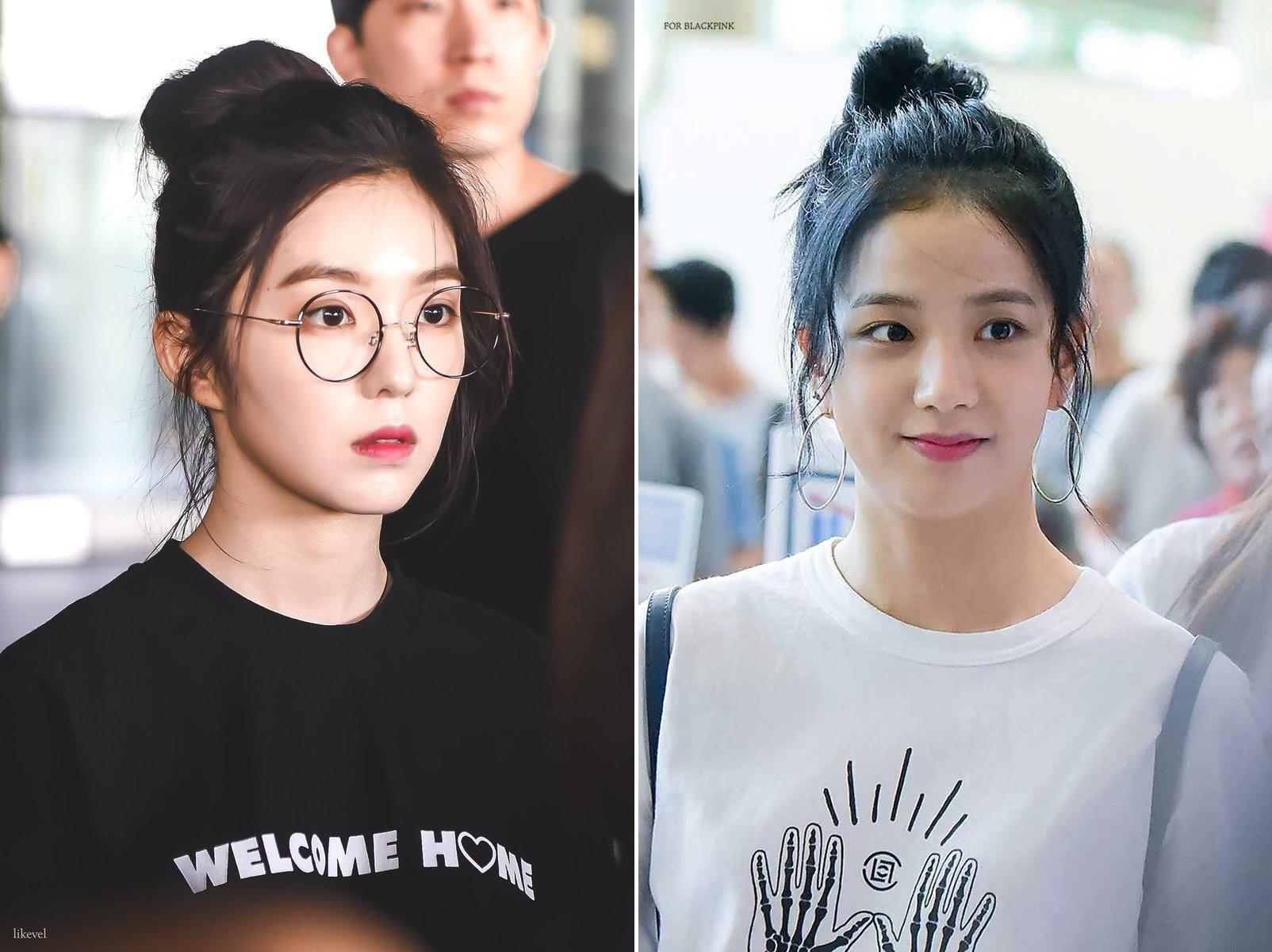 Bàn cân visual giữa Irene (Red Velvet) và Jisoo (Black Pink): makeup và làm tóc giống hệt, nhưng ai hơn ai? - Ảnh 1.