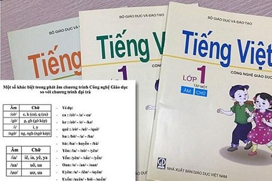 Giáo viên cũng tranh cãi về cách đánh vần Tiếng Việt theo sách Công nghệ giáo dục - Ảnh 1.