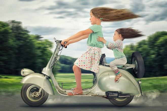 """Ông bố """"bựa nhất năm"""", chụp hình những đứa con và đưa chúng vào thế giới viễn tưởng bằng Photoshop - Ảnh 3."""
