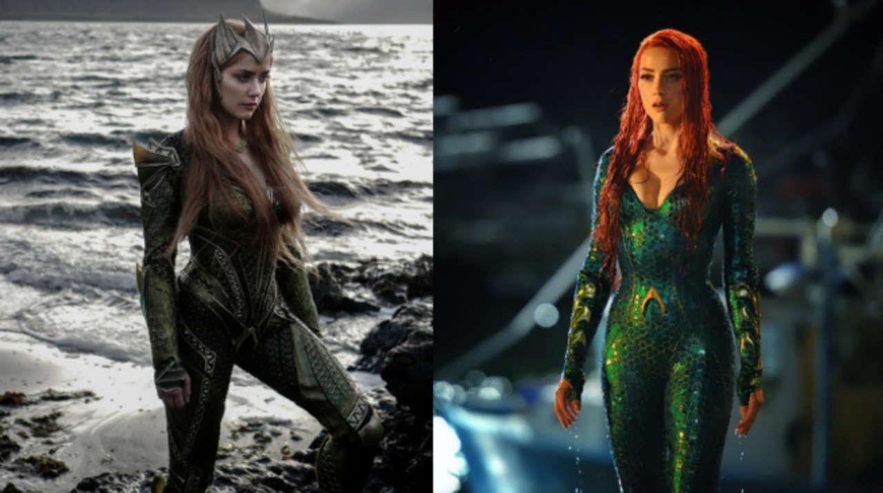 Tạo hình nhân vật Mera của Amber Heard trong mái tóc đỏ ở hai phần phim Justice League và Aquaman