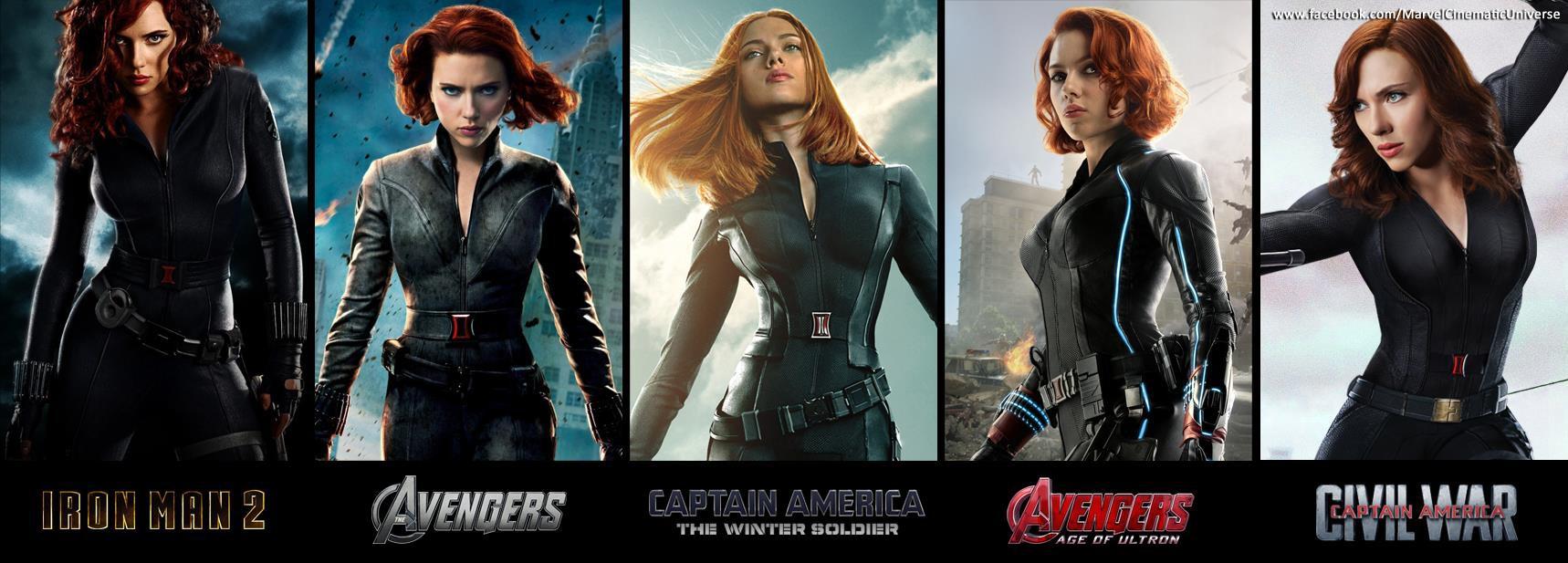 Black Widow trong màu tóc đỏ đặc trưng