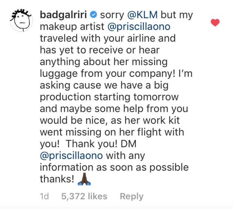 Chuyên gia makeup thân tín bị thất lạc đồ nghề, Rihanna chỉ cần hô 1 tiếng, hãng hàng không trả lại ngay trong một nốt nhạc - Ảnh 4.