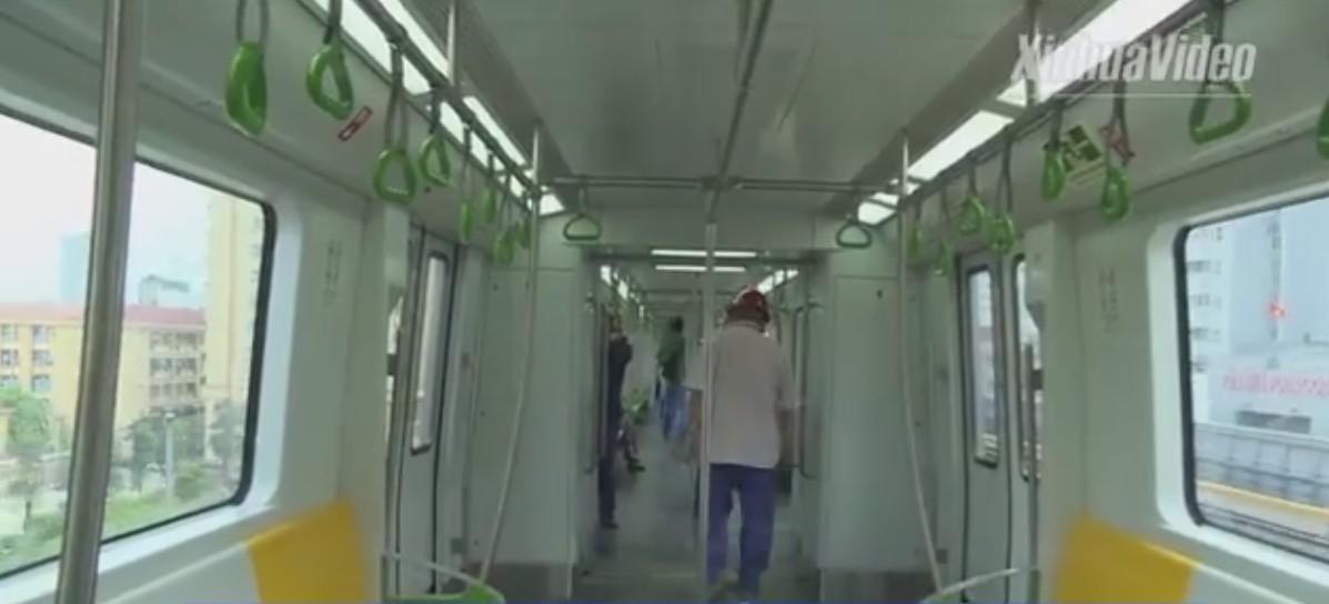 Tàu cao tốc trên cao tuyến Cát Linh - Hà Đông chính thức chạy thử - Ảnh 3.