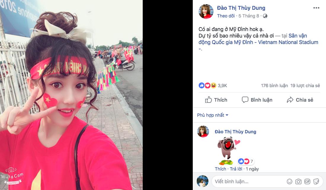 Fan nữ bị tố làm màu, diễn sâu trên khán đài trận U23 Việt Nam và U23 Uzbekistan - Ảnh 2.