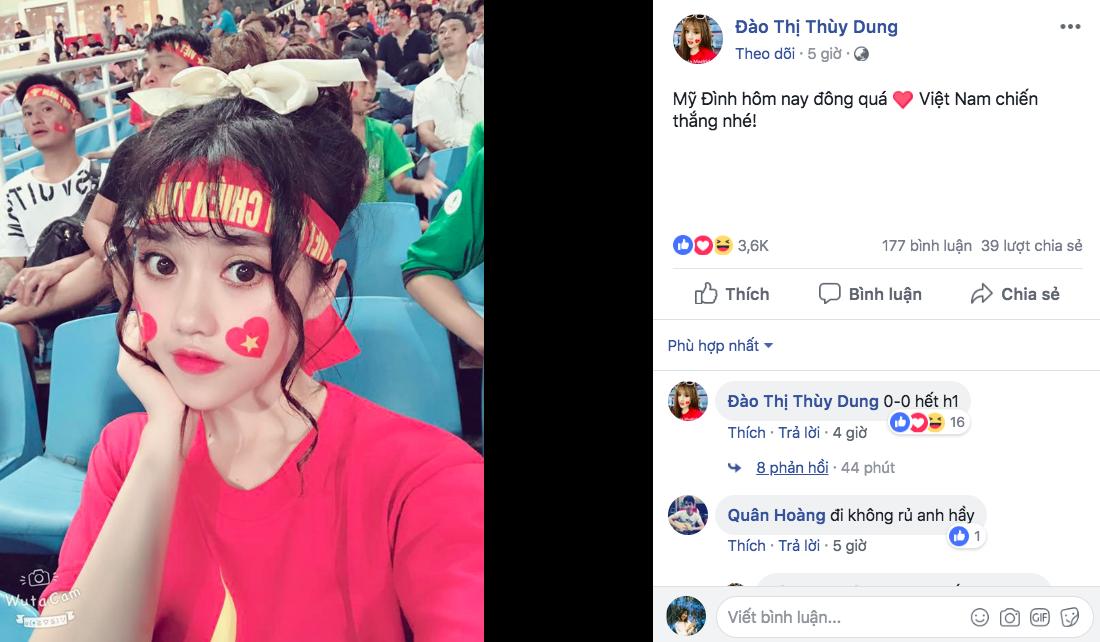 Fan nữ bị tố làm màu, diễn sâu trên khán đài trận U23 Việt Nam và U23 Uzbekistan - Ảnh 3.