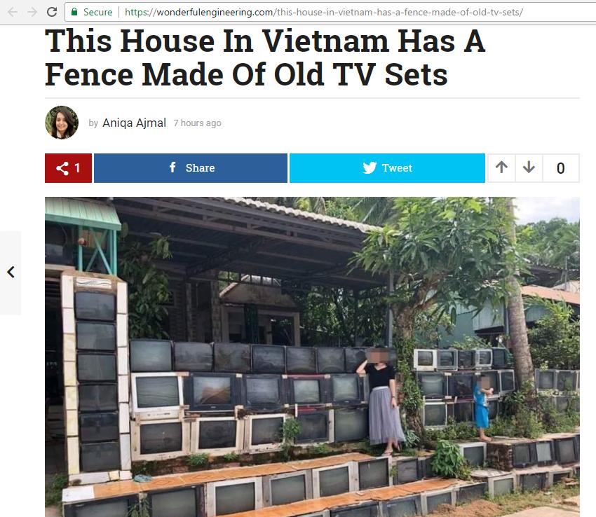 Báo nước ngoài đưa tin khen ngợi sự độc đáo của căn nhà có tường rào làm từ tivi tại Việt Nam - Ảnh 3.