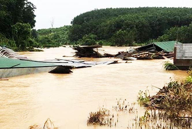 Hàng trăm người dân vùng biên ở Kon Tum bị cô lập do mưa lũ - Ảnh 1.