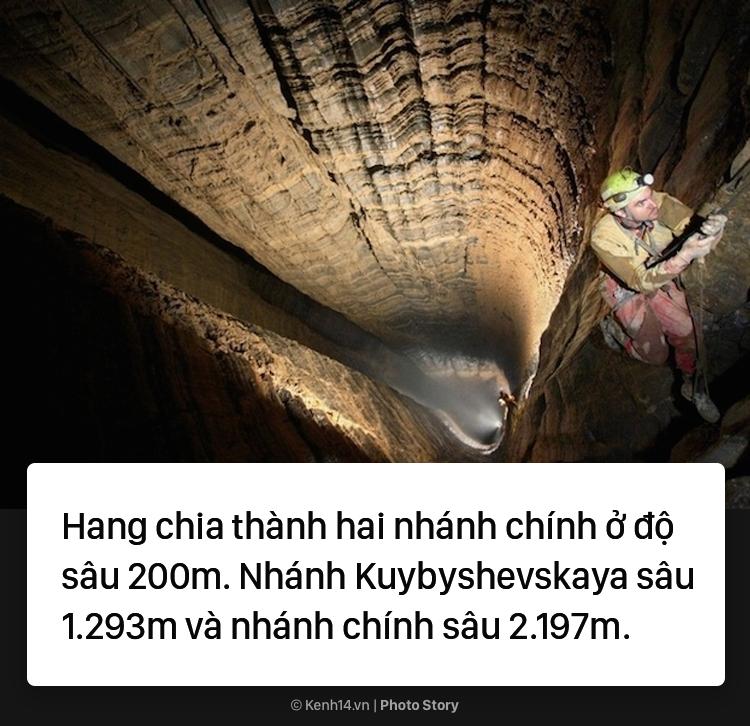 Hang động sâu nhất thế giới đi xuyên xuống dưới lòng đất - Ảnh 5.