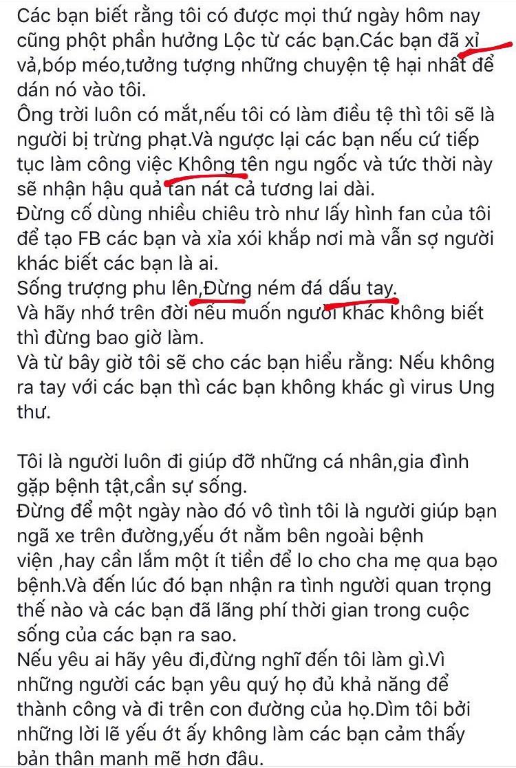 Đọc xong tâm thư Hồ Ngọc Hà gửi đến antifan, cảm thấy cần mở gấp lớp soạn thảo văn bản đúng chính tả cho cô - Ảnh 6.