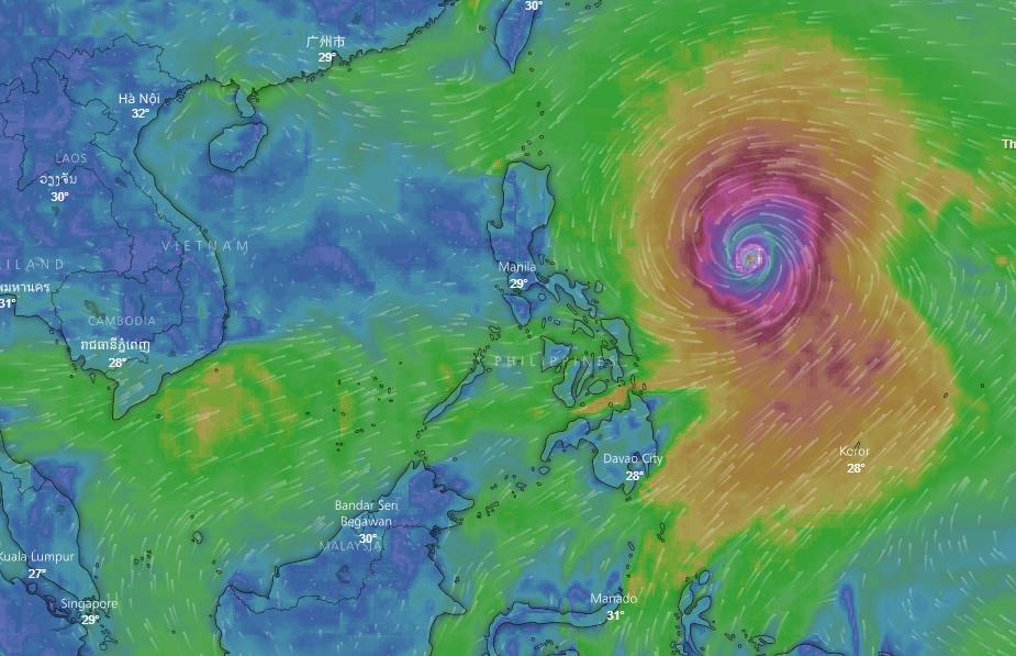 Chiều nay bão số 5 sẽ suy yếu thành ATNĐ, siêu bão Mangkhut cường độ rất mạnh có khả năng đe dọa trực tiếp các tỉnh Bắc Bộ, Bắc Trung Bộ - Ảnh 1.