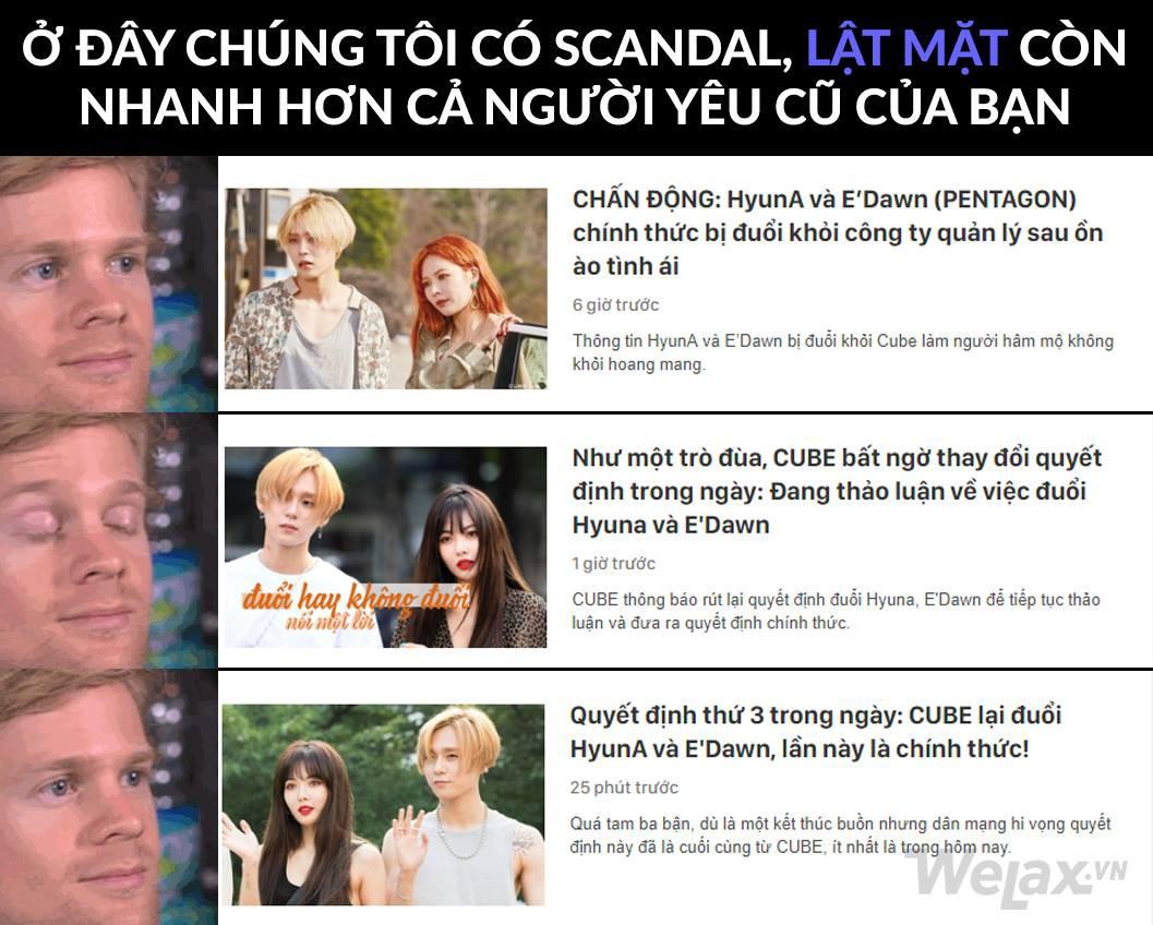 Cư dân mạng khi theo dõi drama nhà CUBE với HyunA và EDawn ngày hôm nay: Đuổi hay không đuổi nói một lời thôi!! - Ảnh 12.
