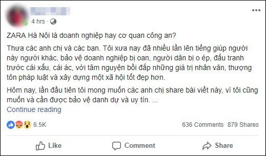 Người phụ nữ giận dữ khi bị kiểm tra túi xách vì cửa từ kêu, đại diện Zara Hà Nội lên tiếng - Ảnh 1.