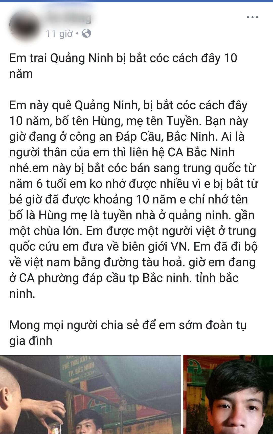 Xôn xao nam thanh niên bị bắt cóc sang Trung Quốc 10 năm vừa trốn về Việt Nam nhưng không nhớ thông tin gia đình - Ảnh 1.