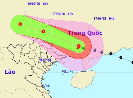 Bão Mangkhut sẽ suy yếu thành áp thấp nhiệt đới, miền Bắc mưa lớn - Ảnh 1.