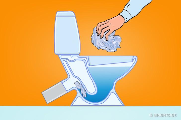 8 loại rác tuyệt đối không vứt vào bồn cầu nếu không muốn có ngày WC ngập ngụa trong nước thải - Ảnh 8.
