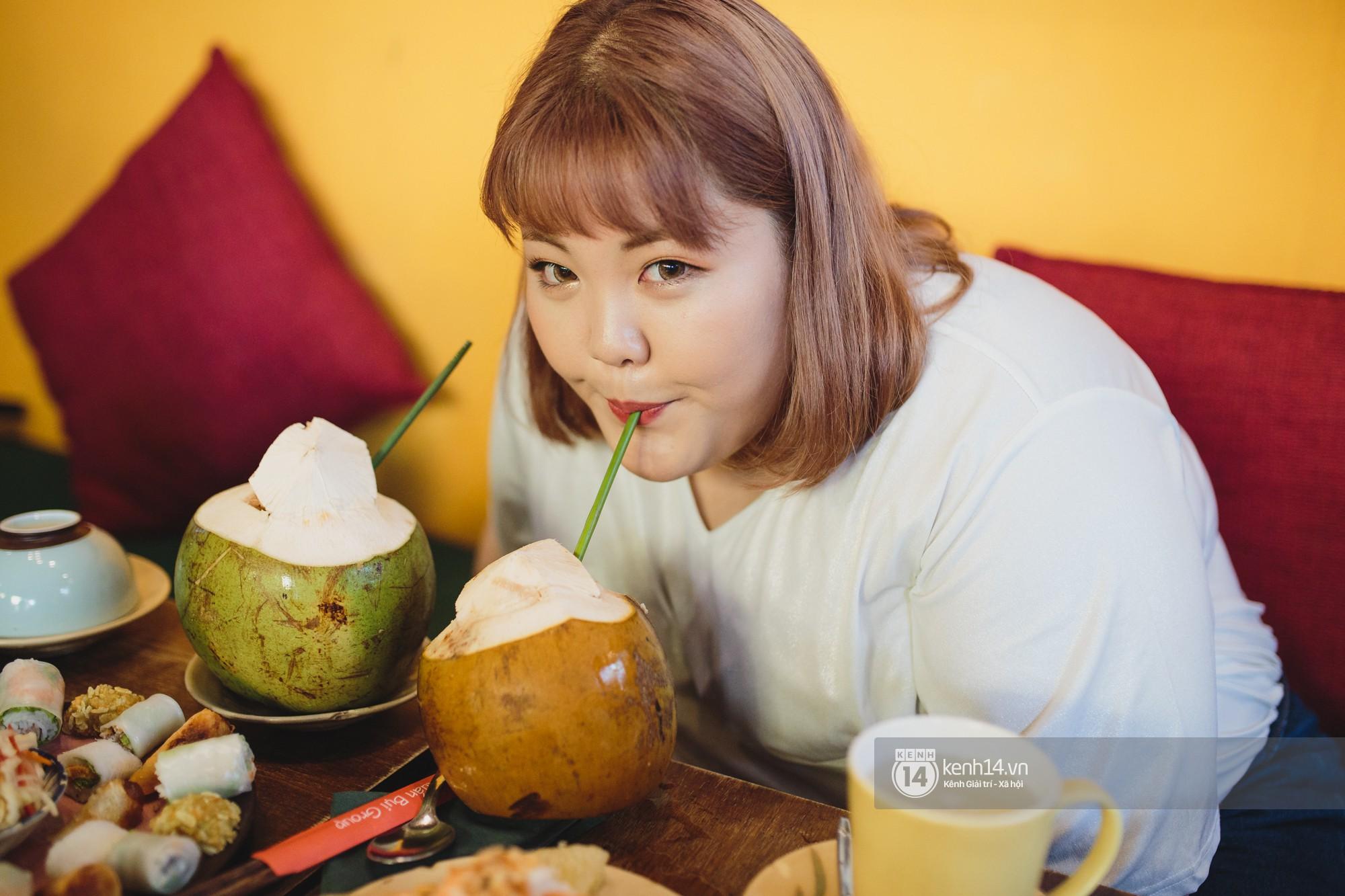 Nàng mập triệu view Hàn Quốc đến Việt Nam: Ăn cua hết 10 triệu, vẫn tiếc vì chưa kịp ăn bún chả - Ảnh 4.