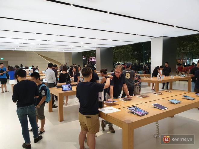 Mặc kệ trời mưa to, hàng dài dân buôn Việt xếp kín trước cửa Apple Store chờ mua iPhone XS mới - Ảnh 10.