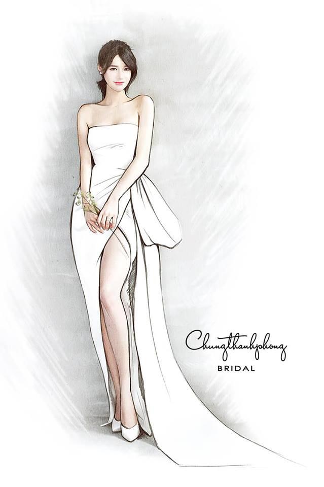 Mẫu váy cưới sắp tới của Nhã Phương tiếp tục được hé lộ, sẽ ôm sát eo và xẻ cao ngút ngàn - Ảnh 1.