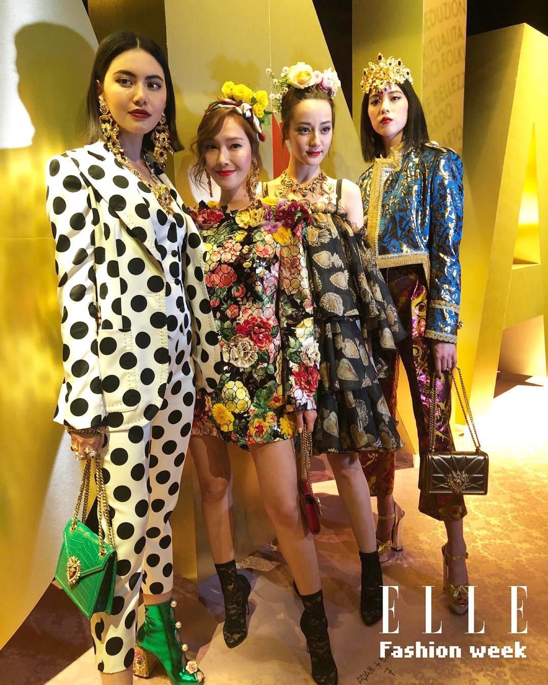 4 nữ thần Địch Lệ Nhiệt Ba, Jessica Jung, Mai Davika, Ayaka Miyoshi catwalk làm náo loạn sàn diễn của Dolce&Gabbana - Ảnh 15.