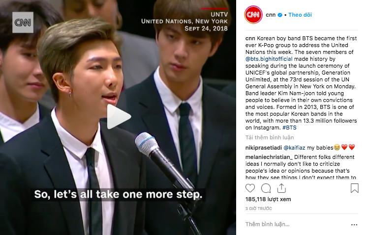 CNN, BBC và loạt báo đài quốc tế lớn ấn tượng trước bài phát biểu của BTS tại LHQ: 7 chàng trai đã làm nên lịch sử! - Ảnh 1.