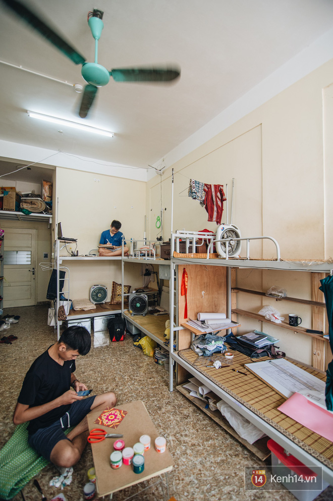 Khám phá ký túc xá của ngôi trường có kiến trúc đẹp nhất nhì Việt Nam, nơi sinh viên ăn-ngủ-sinh hoạt cùng bảng màu, giá vẽ - Ảnh 9.
