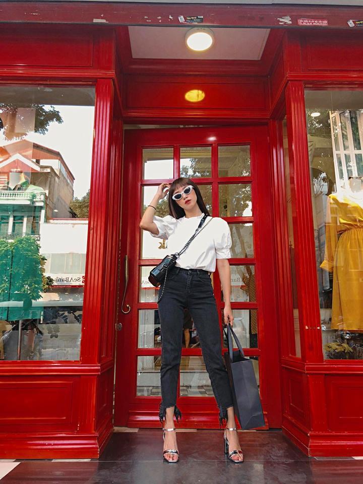 Thu mới vừa chớm mà dàn hot girl Việt đã khoe 1001 kiểu street style, kiểu nào cũng dát đầy hàng hiệu! - Ảnh 8.