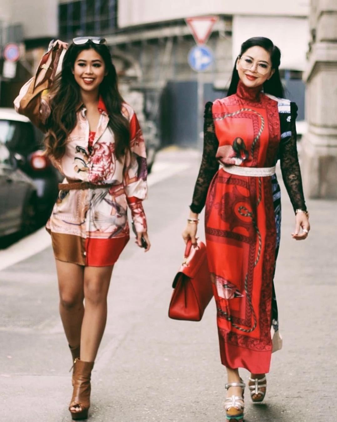Thu mới vừa chớm mà dàn hot girl Việt đã khoe 1001 kiểu street style, kiểu nào cũng dát đầy hàng hiệu! - Ảnh 1.