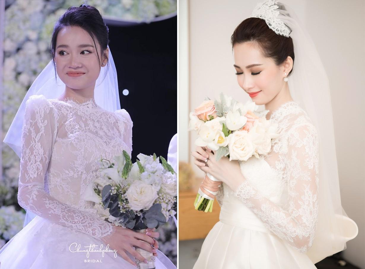 Váy cưới Nhã Phương nhìn hao hao váy cưới Hoa hậu Đặng Thu Thảo - Ảnh 8.