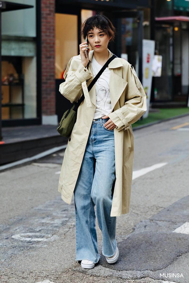 Không có lấy một set đồ bánh bèo, street style của con gái Hàn tuần qua toàn những ca cool ngầu siêu hút mắt - Ảnh 10.