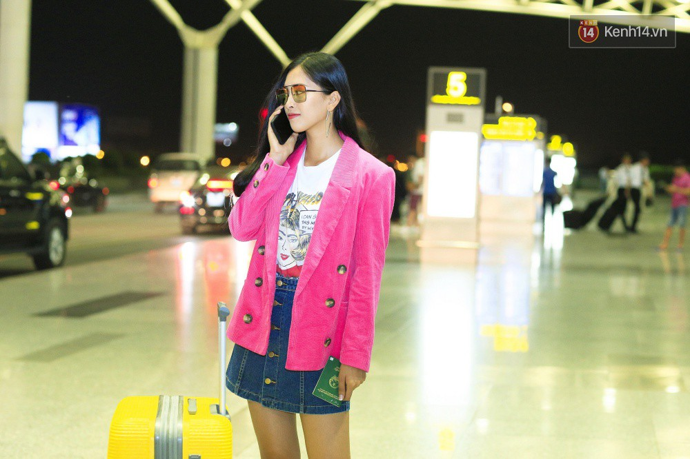 Hoa hậu Tiểu Vy rạng rỡ tại sân bay trước khi lên đường sang Paris dự sự kiện ra mắt ô tô VINFAST - Ảnh 7.