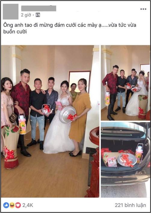 Quà cưới theo phong cách siêu thực tế của hội bạn thân: Chiếu để gia đình ăn cơm, phích nước và chậu nhôm cho cô dâu đi đẻ - Ảnh 1.