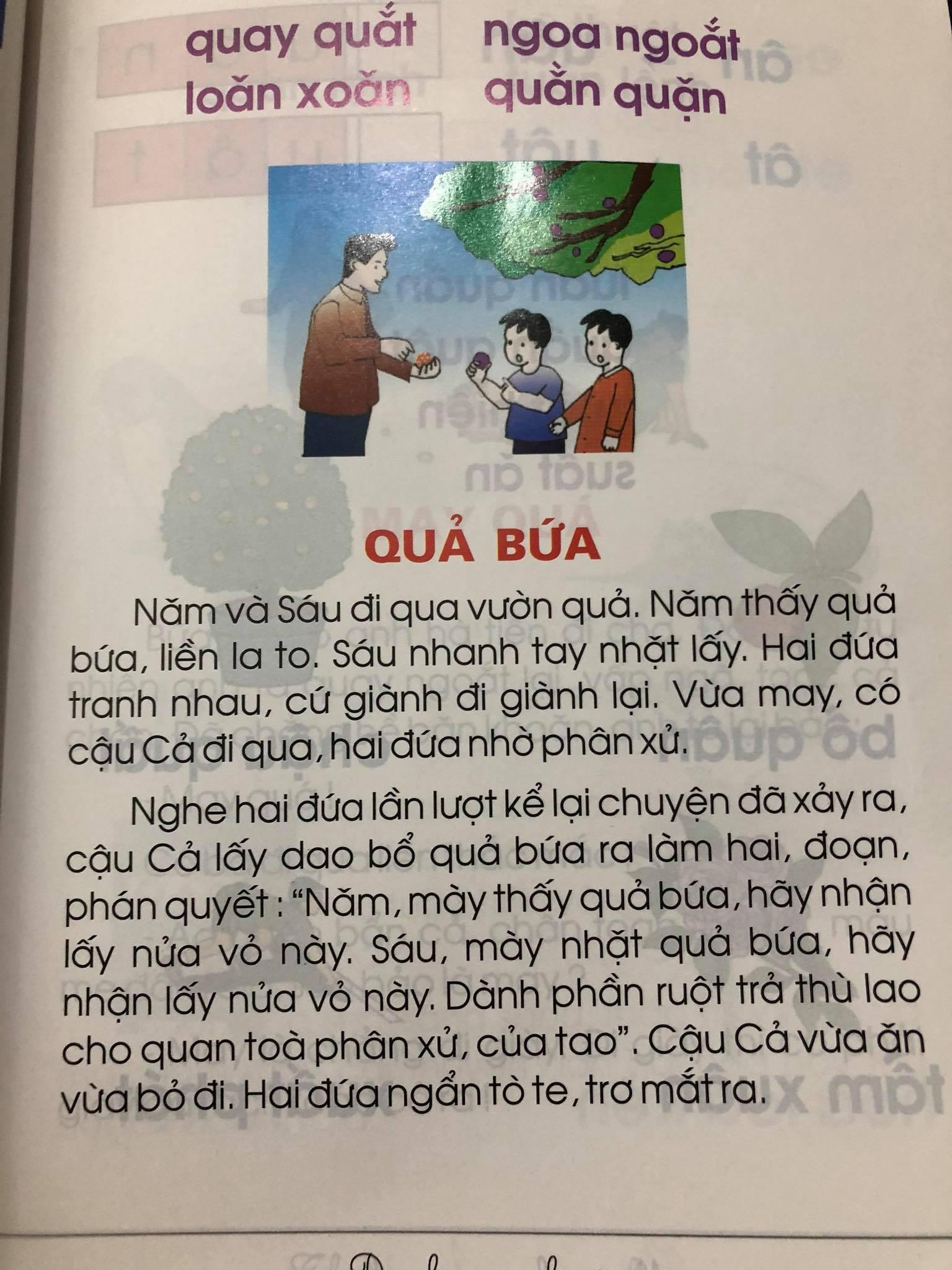 Ngày khai giảng, phụ huynh lo ngại về nội dung sách Tiếng Việt lớp 1 - Ảnh 2.