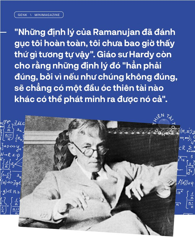 Thiên tài toán học Srinivasa Ramanujan, người đàn ông biết đếm tới vô tận - Ảnh 7.