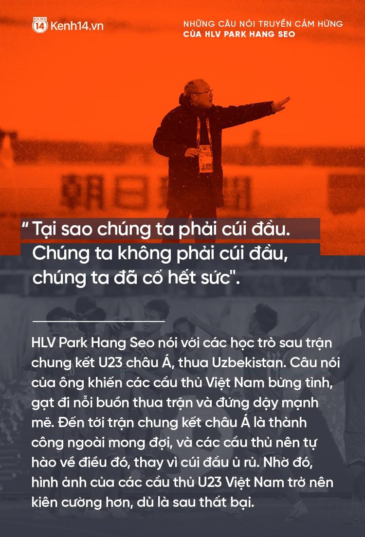 Những câu nói truyền cảm hứng của HLV Park Hang Seo cho bóng đá Việt Nam