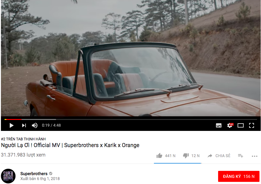 Người lạ ơi cán mốc 30 triệu lượt xem, giúp bộ đôi Superbrothes nhận nút bạc Youtube sau 1 tuần ra mắt - Ảnh 2.