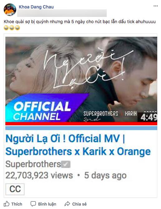 Người lạ ơi cán mốc 30 triệu lượt xem, giúp bộ đôi Superbrothes nhận nút bạc Youtube sau 1 tuần ra mắt - Ảnh 3.