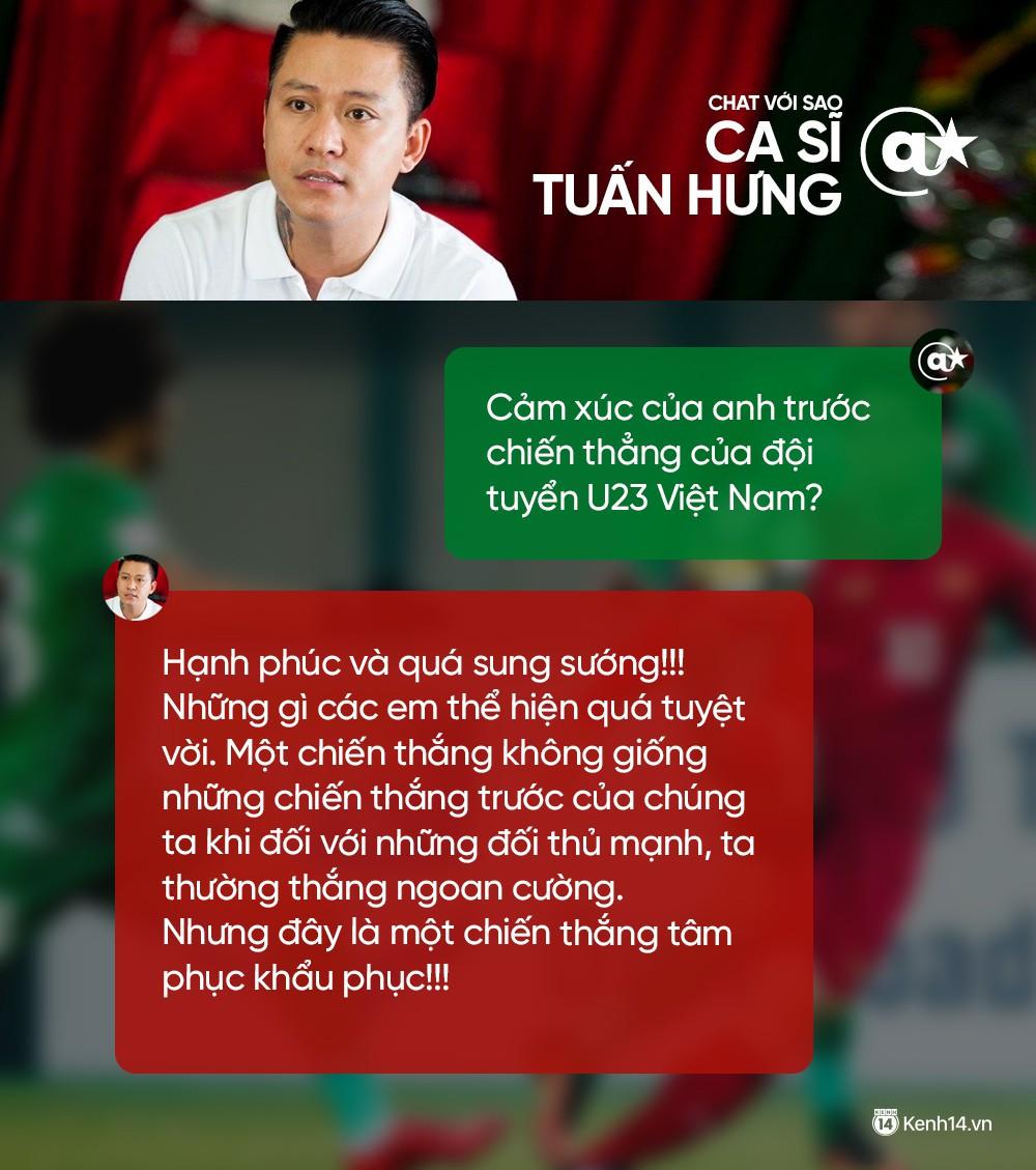Chat cực nhanh: Tuấn Hưng, Duy Mạnh và dàn sao hào hứng nhắn gửi đến U23 Việt Nam - Ảnh 1.