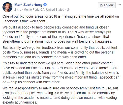 Mark Zuckerberg vừa mất 3,3 tỷ USD chỉ với 1 status
