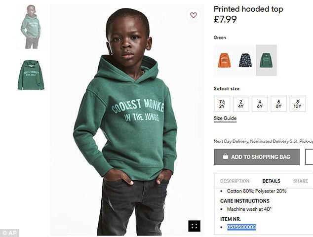 Thấy con trai bị H&M cho mặc áo in slogan phản cảm, mẹ cậu bé da màu chỉ có phản ứng bình thản hết sức - Ảnh 1.