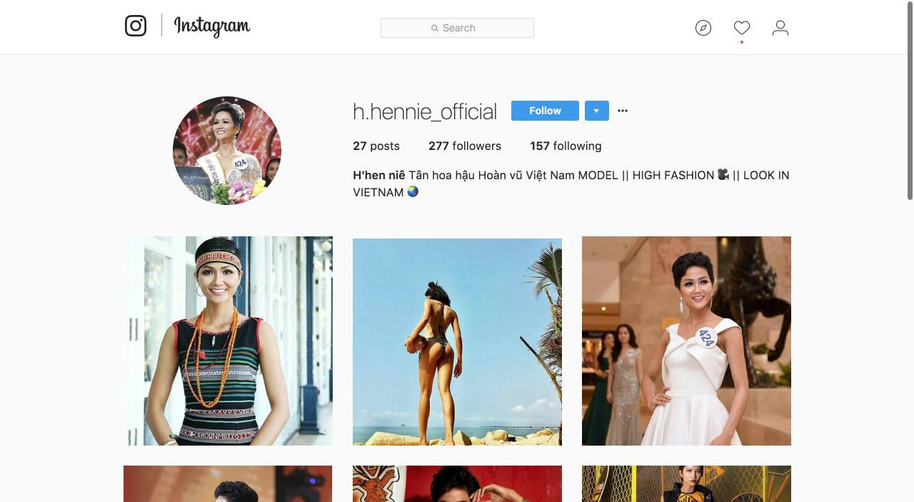 Tài khoản Facebook, Instagram mạo danh Hoa hậu HHen Niê đang mọc lên như nấm sau mưa - Ảnh 2.