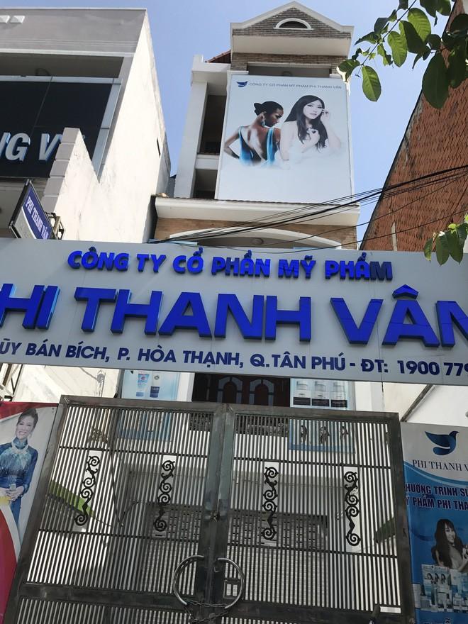 Trụ sở Công ty Cổ phần Phi Thanh Vân trên đường Lũy Bán Bích (quận Tân Phú, TP.HCM).