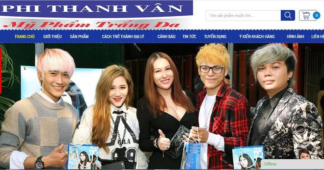 Quảng cáo của Công ty Phi Thanh Vân trên website.