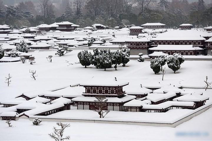 Ảnh: Trung Quốc chống chọi với tuyết lạnh rơi dày cản trở giao thông - Ảnh 1.