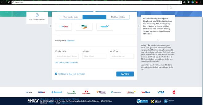 Cảnh báo website giả mạo nạp thẻ cào nhân mười lần giá trị tại Việt Nam - Ảnh 2.